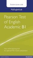 MyEnglishLab for Pearson Test of English Academic B1