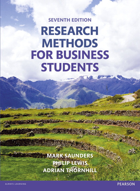 Cover - Research methods for business students