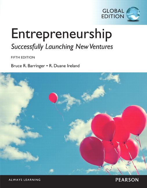 Cover - Entrepreneurship, Global edition
