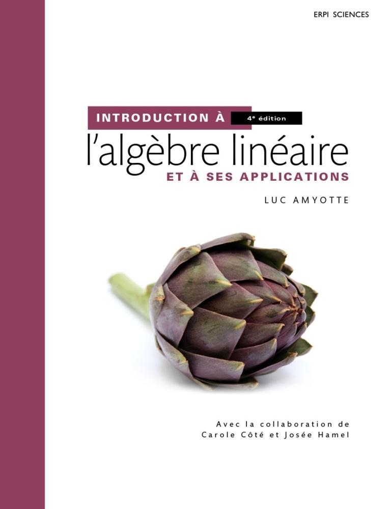 Couverture Introduction à l'algèbre linéaire
