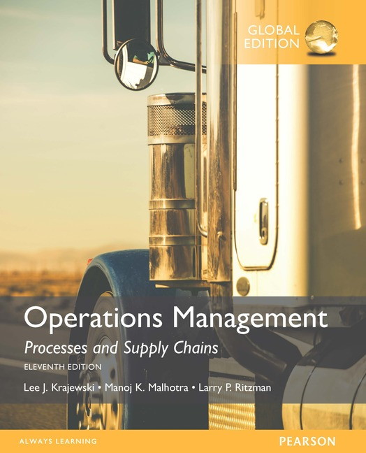 Cover - Operations Management, Global Edition - Processes and supply chains
