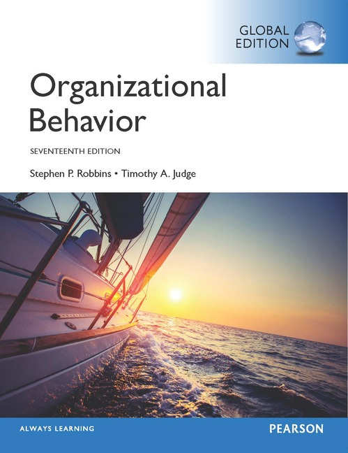 Cover - Organizational Behavior, Global Edition