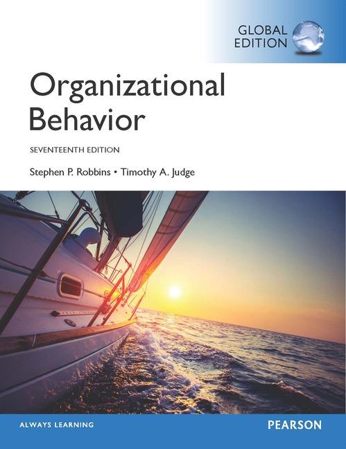 Cover - Organizational Behavior, Global Edition