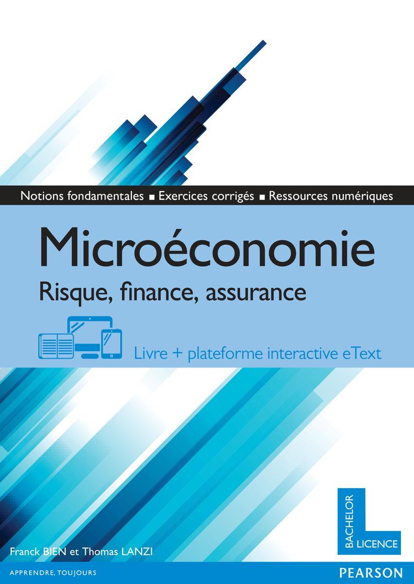 Couverture Microéconomie, risques, finance, assurance - Franck Bien