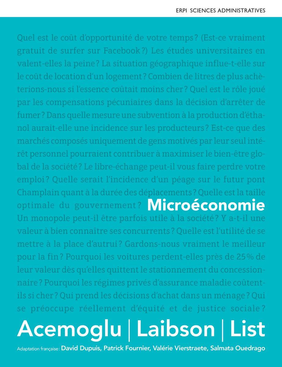Couverture Microéconomie - Acemoglu
