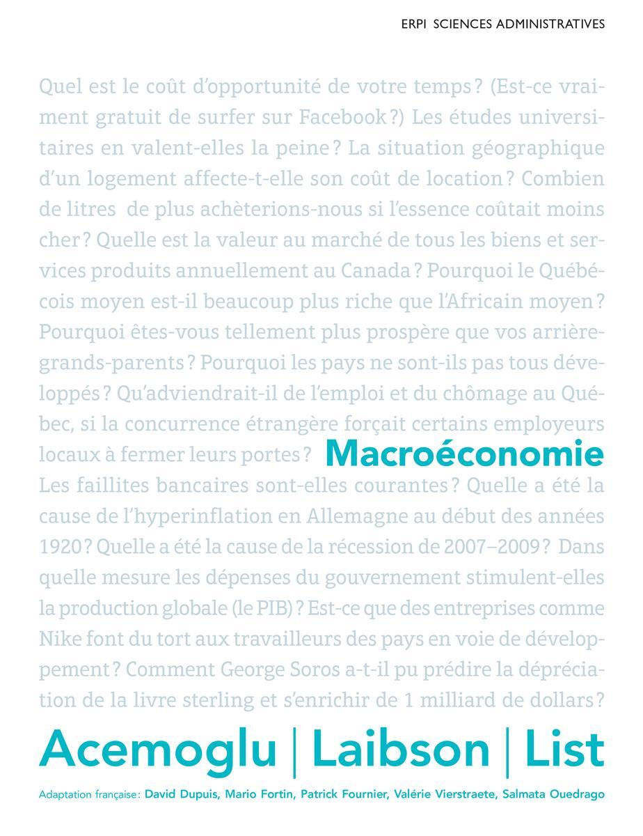 Couverture Macroéconomie - Acemoglu
