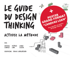 Coffret : Le guide du design thinking + Poster canevas Lean