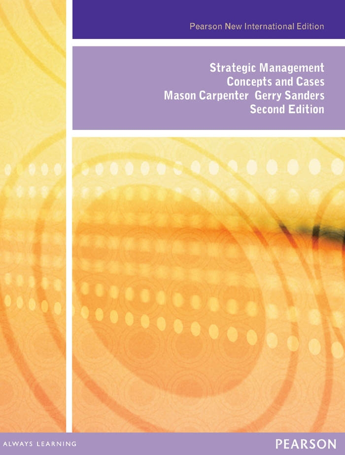 Strategic Management: Pearson New International Edition