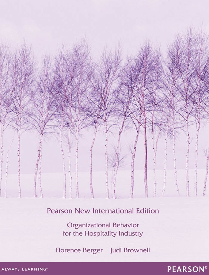 Organizational Behaviour for the Hospitality Industry:Pearson New International Edition