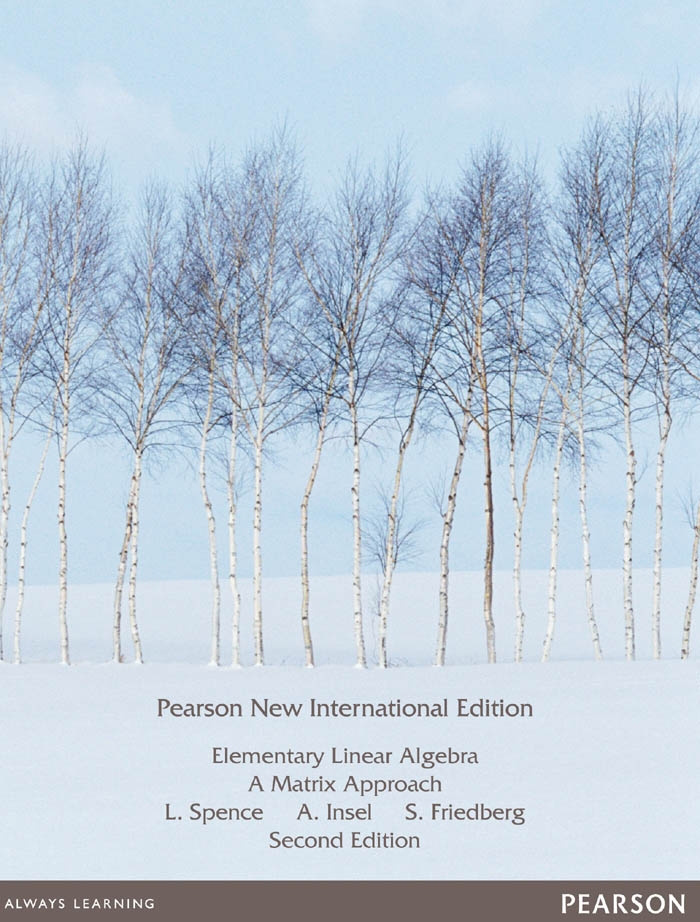Elementary Linear Algebra: Pearson New International Edition