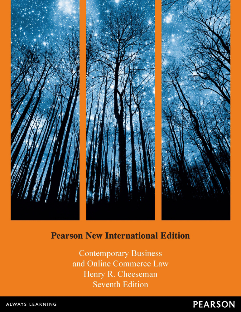 Contemporary Business and Online Commerce Law: Pearson New International Edition
